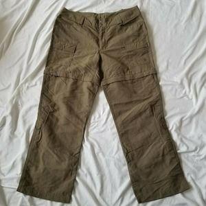The North Face Convertible Cargo Dark Khaki Pants